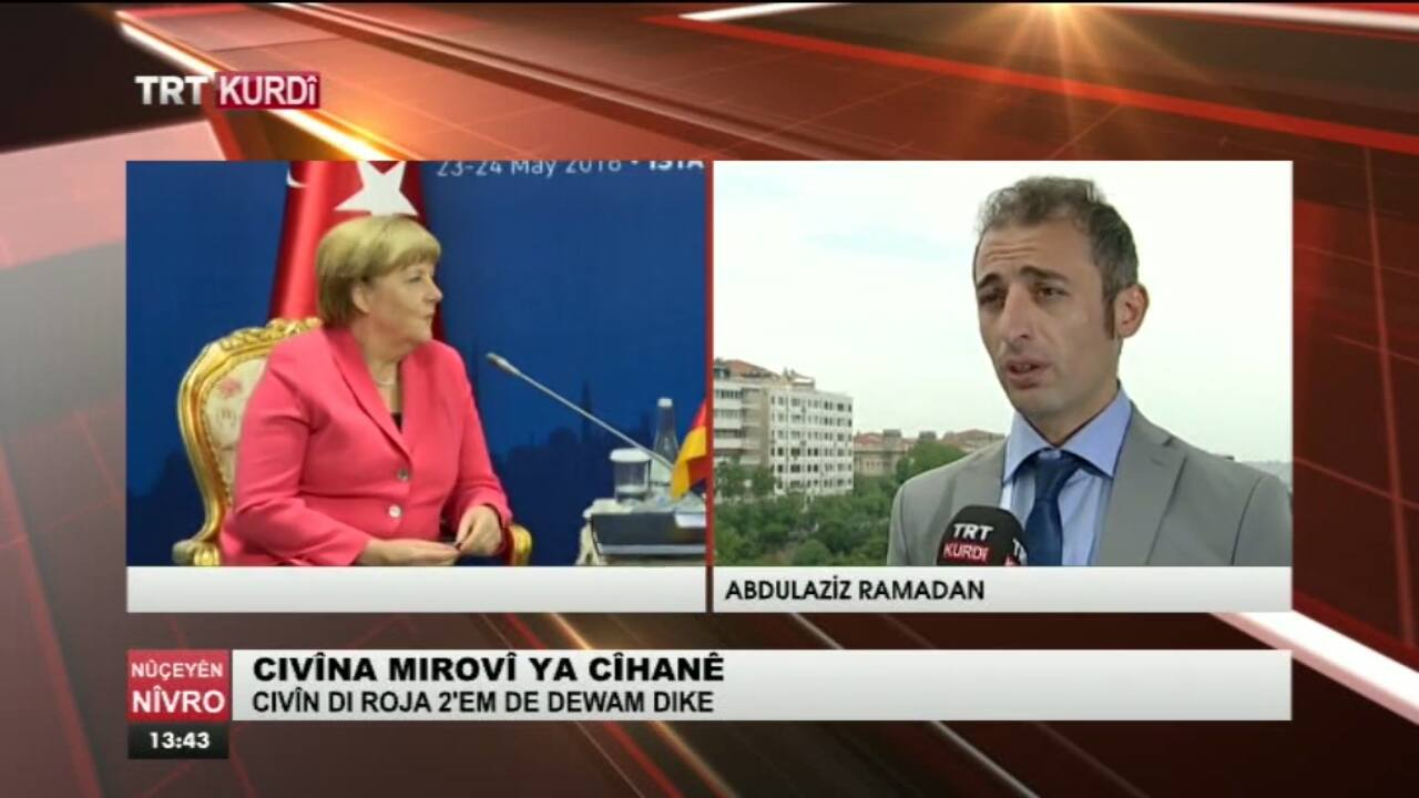 TRT Kurdî: Interview about EU-Turkey Role in Humanitarian Action